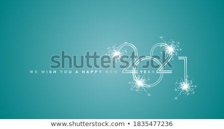 nowy · rok · okulary · szampana · ilustracja · uroczystości · fajerwerków - zdjęcia stock © decorwithme