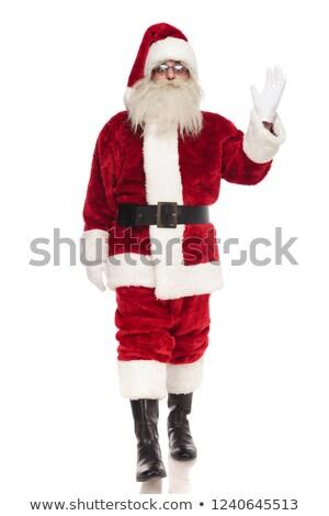 Дед Мороз вперед привет жест белый Сток-фото © feedough