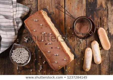 tiramisu · torta · madera · postre · crema · italiano - foto stock © m-studio