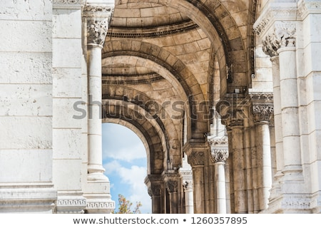 Columns on passage in basilica Coeur Sacre on Montmartre Stock photo © vapi