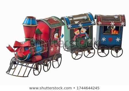 Navidad · tren · papá · noel · juguete · regalos · muñeco · de · nieve - foto stock © colematt