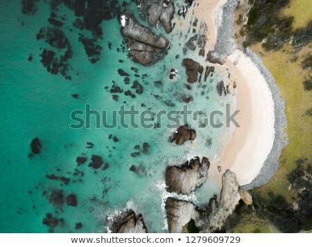 Luchtfoto idyllisch boog strand antenne klein Stockfoto © lovleah