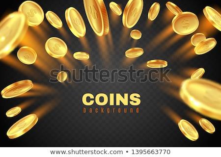 Altın sikke iş finanse kavramlar yalıtılmış Stok fotoğraf © hittoon