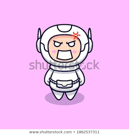 Cartoon Angry Spaceman Boy Stock photo © cthoman