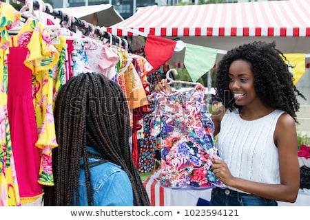Vrouw kleurrijk kleding buitenshuis typisch traditioneel Stockfoto © Lopolo