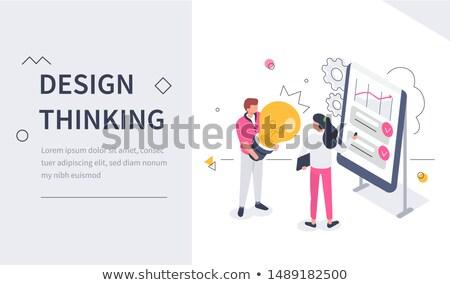 Nowego pomysł inżynierii lądowanie strona zespół firmy Zdjęcia stock © RAStudio