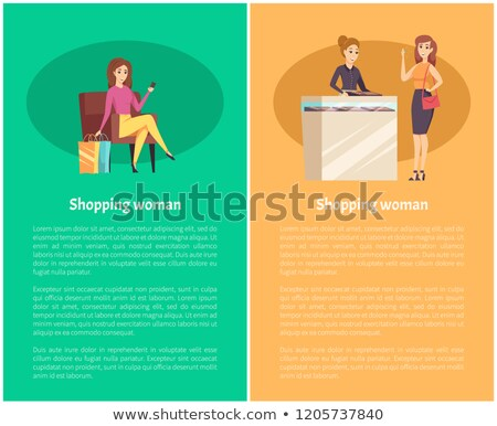 Shopping Jewelry Store Consultant Poster Vector Stock photo © robuart