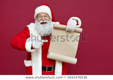 Karácsony ünnepek előkészítés levél mikulás mikulás Stock fotó © robuart