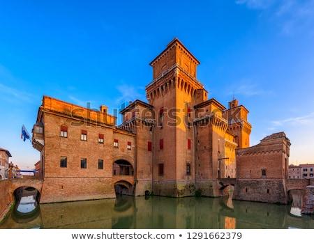 イタリア 表示 水 旅行 都市 城 ストックフォト © boggy