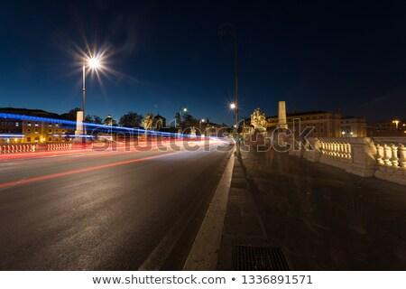 Nightshot of Vittorrio Emanuele II bridge Stock photo © hsfelix