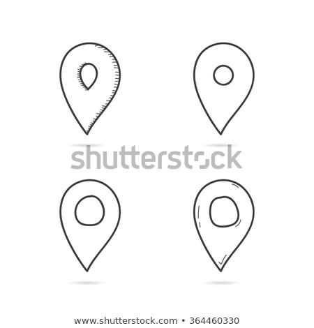 doodle · kaart · icon · zwart · wit · symbool · frame - stockfoto © rastudio