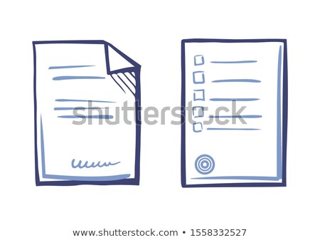 Paper Sheet List Tips, Signed Contract Text, Stamp Stock photo © robuart