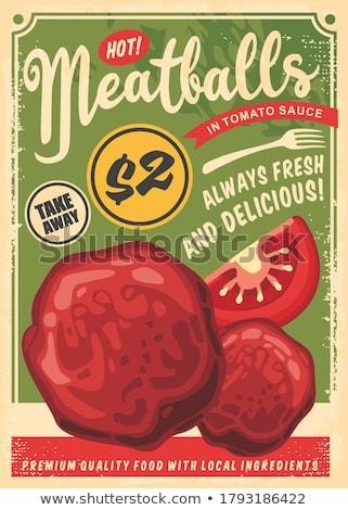 ミートボール ソース トマトソース フライド 肉 ストックフォト © tycoon