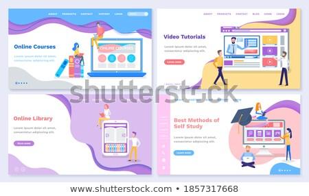 Methods of Self Study and Video Tutorials Set Stock photo © robuart