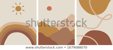 modern design of flat with brown wallpaper vector stock photo © robuart
