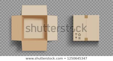 wektora · ikona · pola · pakiety · szablony · papieru - zdjęcia stock © robuart