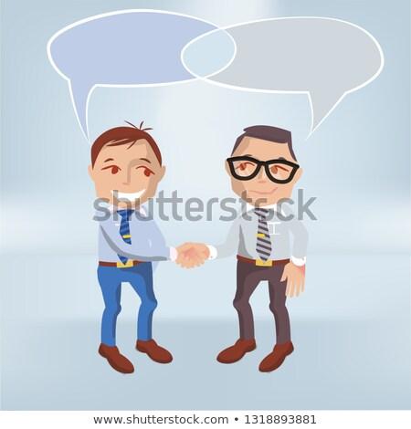 discours · personnes · ballons · vecteur · homme · résumé - photo stock © ustofre9
