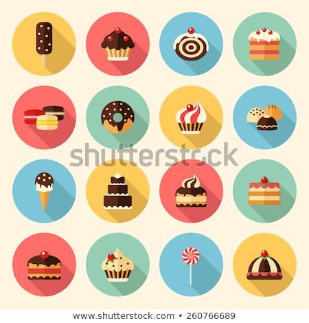 cake flat icon stock photo © smoki