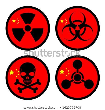 radioativo · nuclear · símbolo · morte · bandeira · tridimensional - foto stock © daboost