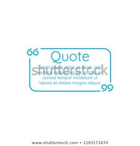 青 · リニア · 文字 · 引用 · フレーム - ストックフォト © kyryloff