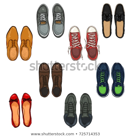 Skaters Shoes. Top View. Stock photo © frescomovie