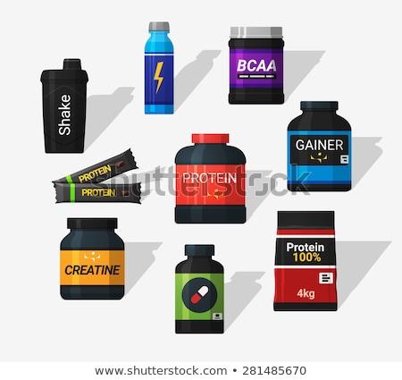 bodybuilding · sport · icon · ontwerp · fitness · gymnasium - stockfoto © angelp