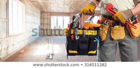 encanamento · construção · ferramentas · encanador · reparação - foto stock © Kurhan