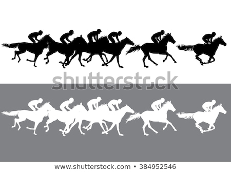 Horse racing competition. Vector illustration. Derby. Stock photo © bonnie_cocos