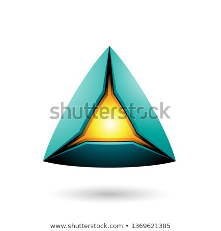 Persian Green Pyramid with a Glowing Core Vector Illustration Stock photo © cidepix