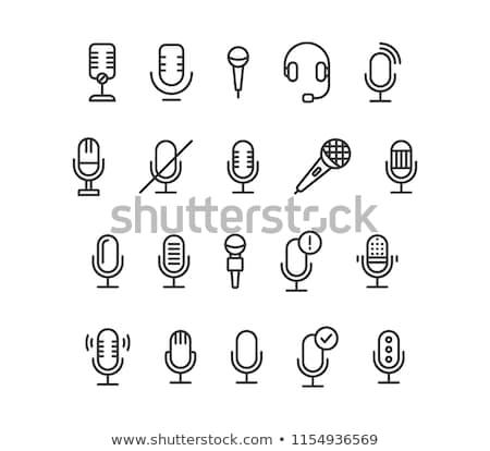 vector set of microphone stock photo © olllikeballoon