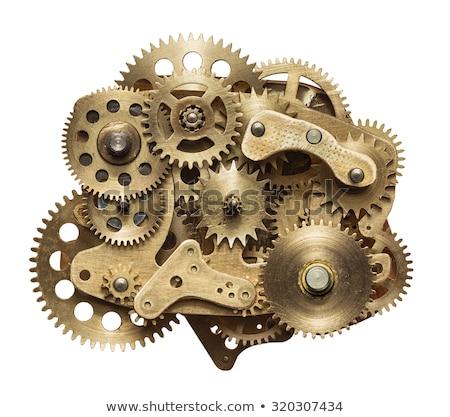 Uhr Zahnräder Zahnräder Teile Hände Arbeit Stock foto © unikpix
