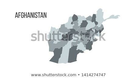Map of the Islamic Republic of Afghanistan with the provinces in different colors. Vector illustrati Stock photo © kyryloff