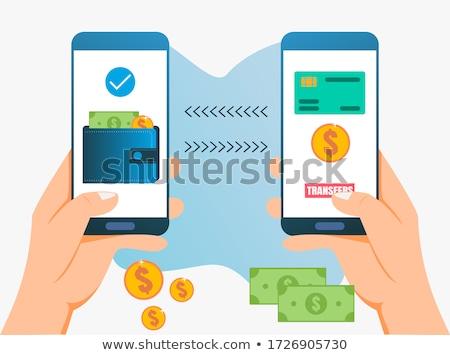Foto stock: Banco · línea · transferencia · de · dinero · pago · vector · colegas