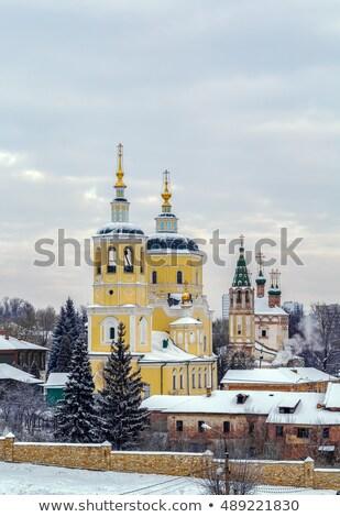 Kerk Rusland orthodox stad historisch stad Stockfoto © borisb17