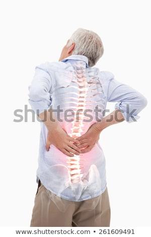 Człowiek cierpienie ból kręgosłup powrót biuro Zdjęcia stock © Elnur