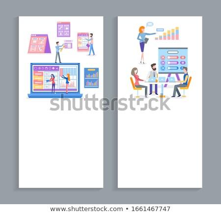 üzlet szoftver megoldás készít javaslat szett Stock fotó © robuart