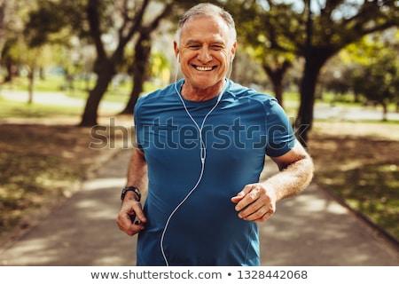 portret · gelukkig · senior · man · heldere · hemel - stockfoto © kzenon