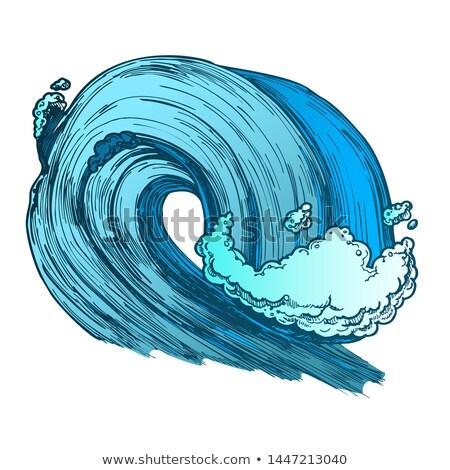 Grande espumante tropical mar marinha onda Foto stock © pikepicture