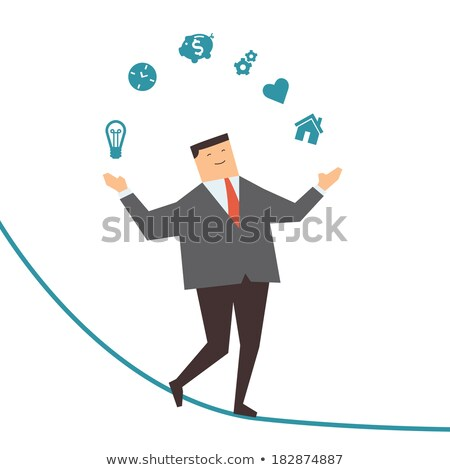 Smiling man juggles the hearts illustration Stock photo © tiKkraf69