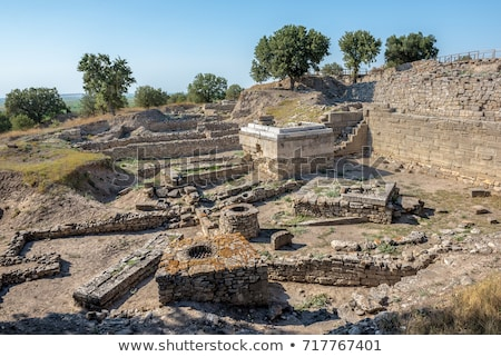 City walls in the ruins of Troy  Stock photo © grafvision