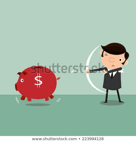 Shooting Range Target On Piggy Bank Stock photo © AndreyPopov