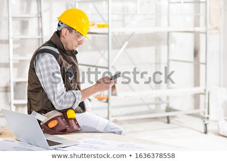 Engineers Constructing New Houses Using Tools Stock photo © robuart