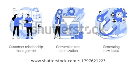 Stock photo: Content strategy vector concept metaphors.