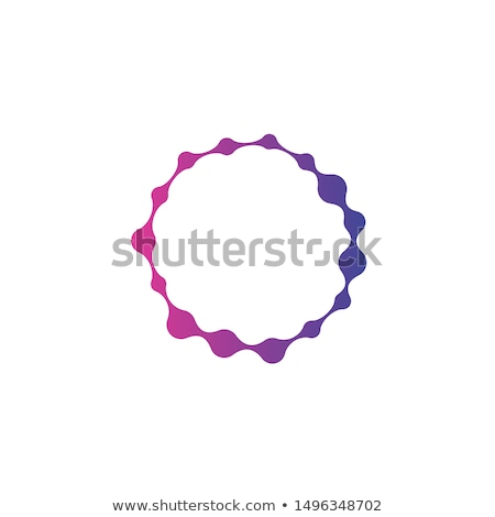 Nano technology Abstract molecular structure in the form of a circle. Stock Vector Illustration isol Stock photo © kyryloff