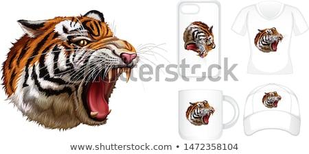 Grafisch ontwerp verschillend producten tijger illustratie natuur Stockfoto © bluering