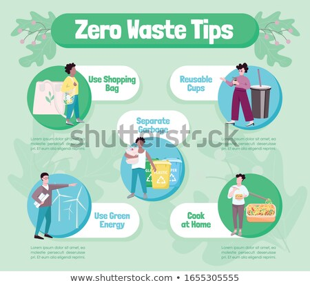 eco friendly lifestyle flat vector colorful banner template stock photo © decorwithme