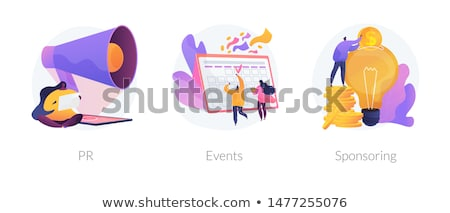vektor · erősítés · ikon · piros · fehér · terv - stock fotó © rastudio