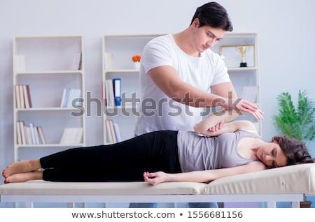 костоправ массаж женщины пациент служба стороны Сток-фото © Lopolo