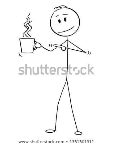 человека Кубок горячей напиток улыбаясь Сток-фото © robuart