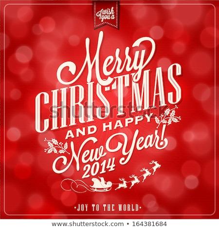 Szczęśliwego nowego roku wyrażenie grunge plakat karty Zdjęcia stock © masay256